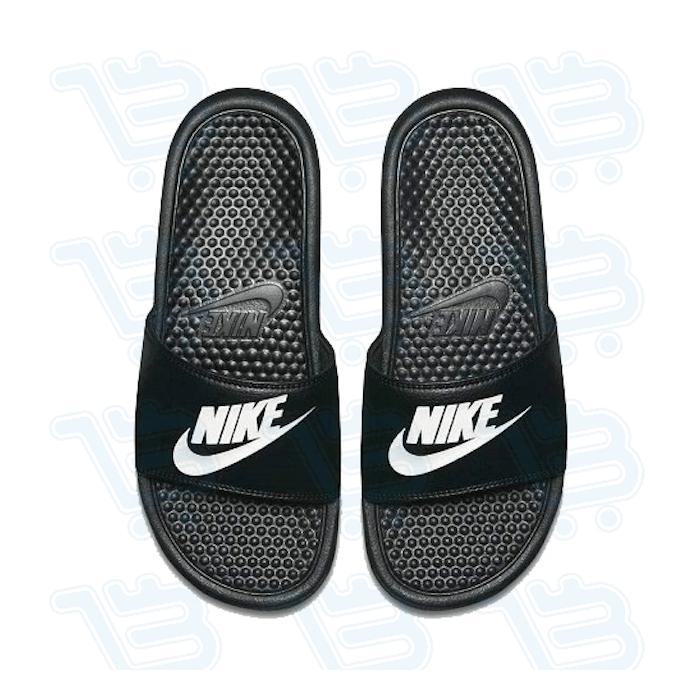 authorized site authorized site hot products Nike Men's Benassi Just Do It Athletic Sandal, Black/White Noir ...